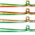 Nigeria · banderą · zestaw · odizolowany · biały - zdjęcia stock © doomko