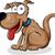 kutya · rajz · jókedv · izolált · fehér · boldog - stock fotó © doomko