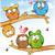 divertente · gufo · gruppo · cartoon · albero · sfondo - foto d'archivio © doomko