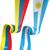 bandiera · Colombia · illustrazione · blu · grafica - foto d'archivio © doomko
