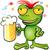 frog cartoon with schooner beer stock photo © doomko