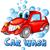 洗車 · 漫画 · 孤立した · 白 · 車 · 笑顔 - ストックフォト © doomko