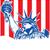 стилизованный · американский · флаг - Сток-фото © doomko