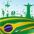 Иисус · флаг · подробный · иллюстрация · статуя · Рио-де-Жанейро - Сток-фото © doomko