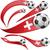 Катар · флаг · набор · футбольным · мячом · изолированный · Футбол - Сток-фото © doomko