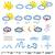 meteorológia · ikonok · alkotóelem · fehér · nap · terv - stock fotó © doomko