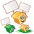 conjunto · vetor · vazio · desenho · animado · bandeira - foto stock © doomko
