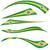 brazil flag set on white background stock photo © doomko