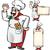 pizza · chef · ilustración · italiano · Cartoon - foto stock © doomko