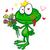 rajz · béka · herceg · szeretet · szív · tündérmese - stock fotó © doomko