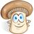 mushroom cartoon isolated on white background stock photo © doomko