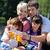 счастливая · семья · играет · вместе · пикника · улице · небе - Сток-фото © dotshock