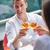 paar · mooie · restaurant · gelukkig · zee - stockfoto © dotshock
