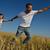 férfi · búzamező · fiatalember · siker · mezőgazdaság · szabadság - stock fotó © dotshock