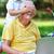 abuelo · nieto · junto · sesión · sillón - foto stock © dotshock