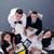 táblagép · csoport · üzletemberek · kezek · csapat · izolált - stock fotó © dotshock