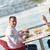 pár · eszik · freskó · étel · tengerpart · kenyér - stock fotó © dotshock