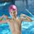 pequeno · menino · piscina · óculos · de · proteção · azul · retrato - foto stock © dotshock