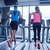 glimlachende · vrouw · tredmolen · gymnasium · sport · fitness - stockfoto © dotshock