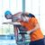 スイマー · 練習 · ジャンプ · トレーナー · 男 · プール - ストックフォト © dotshock