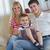 feliz · jovem · família · família · feliz · mãe - foto stock © dotshock