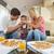 family eating pizza stock photo © dotshock