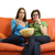 deux · femmes · salon · manger · femme · sourire - photo stock © dotshock