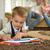 gelukkig · Blackboard · klasse · home · school · kinderen - stockfoto © dotshock