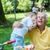abuelo · hijo · nieto · parque · fútbol · familia - foto stock © dotshock