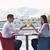 pár · gyönyörű · étterem · boldog · fiatal · pér · tenger - stock fotó © dotshock