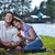 gelukkig · picknick · outdoor · jonge · romantische - stockfoto © dotshock