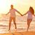 カップル · 愛 · を実行して · ビーチ · 地中海 · 女性 - ストックフォト © dotshock