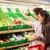 ワイン · スーパーマーケット · 家族 · 少女 · 男性 - ストックフォト © dotshock
