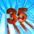 otuz · beş · Metal · bulutlu · mavi · gökyüzü · 3d · illustration - stok fotoğraf © drizzd
