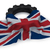 gear wheel and flag of the united kingdom of great britain and northern ireland   3d rendering stock photo © drizzd