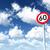 hız · limiti · otuz · bulutlu · mavi · gökyüzü · 3d · illustration - stok fotoğraf © drizzd