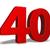 aantal · veertig · witte · 3d · illustration · verjaardag · illustratie - stockfoto © drizzd