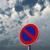 Parkplatz · erlaubt · bewölkt · blauer · Himmel · 3D-Darstellung - stock foto © drizzd