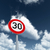 jelzőtábla · sebességhatár · harminc · által · óra · festett - stock fotó © drizzd