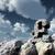 stone pound sterling symbol under cloudy blue sky   3d illustration stock photo © drizzd