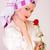 beautiful woman holding flower stock photo © dukibu