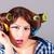 mulher · cosmético · lápis · olho · mulher · bonita - foto stock © dukibu