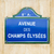 avenue des champs elyses street sign stock photo © dutourdumonde