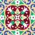 velho · floral · cerâmico · telha · palácio · Tailândia - foto stock © dutourdumonde