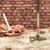 mano · ladrillo · cemento · edificio · pared · construcción - foto stock © dutourdumonde