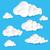 белый · облака · голубой · небе · бесконечный - Сток-фото © dvarg