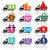 vervoer · sticker · icon · vierkante · vorm · moderne - stockfoto © ecelop