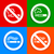 stickers multicolored   no smoking symbol stock photo © ecelop