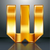 Letter metal gold ribbon - W stock photo © Ecelop