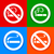 no smoking area   stickers stock photo © ecelop